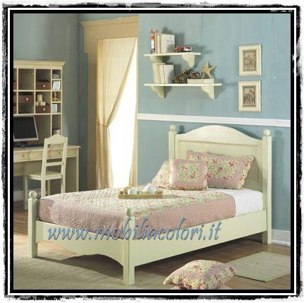Mobili a colori mobili in vero legno per arredamenti - Cameretta stile provenzale ...