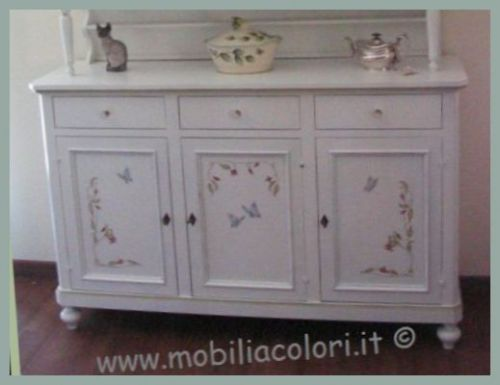 Dipingere mobili legno stile provenzale tavolo consolle allungabile - Dipingere vecchi mobili in legno ...