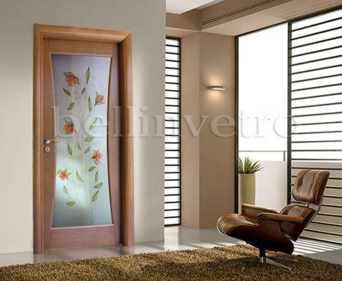 Produzione di vetrate artistiche e porte in vetro palermo agrigento trapani corleone - Porte moderne con vetro decorato ...