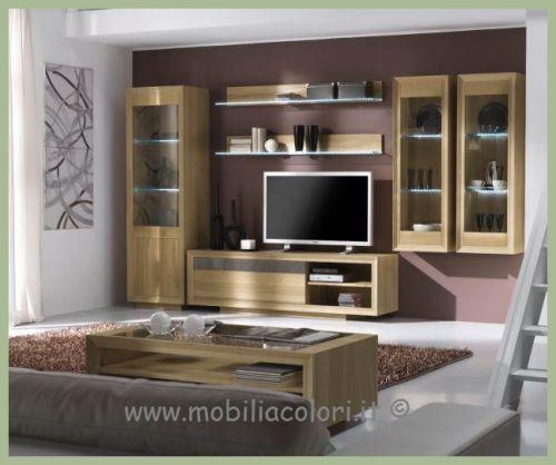 Mobili a colori mobili in vero legno per arredamenti - Soggiorni country chic ...